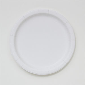 "Paper Plate, Size: 7"", Color: White, Material: Clay Coated, Compostable, 250/cs, Special Order, Non-refundable, 1 week lead time"