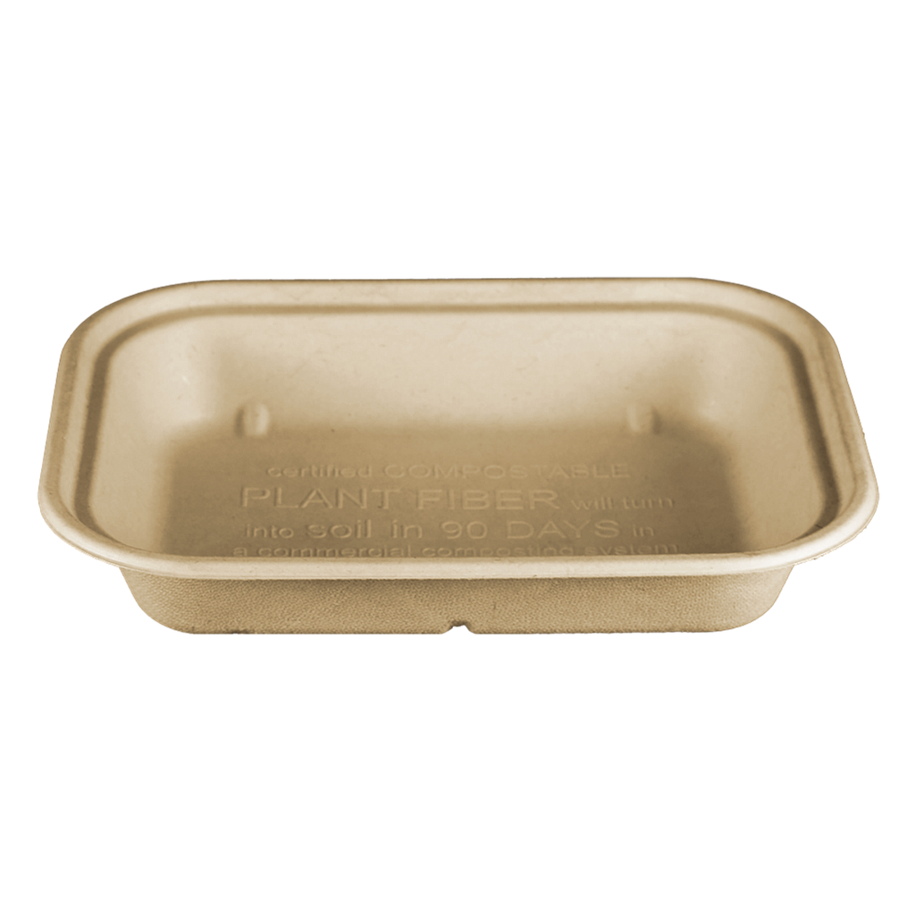 "*SPECIAL ORDER ITEM* 36 oz Fiber Tray, Size: 10""x7.5""x1.5"", Material: Unbleached Plant Fiber, Color: Natural, Compostable, 400/cs *ESTIMATED DELIVERY 4 TO 6 WEEKS* (NOT RETURNABLE)"