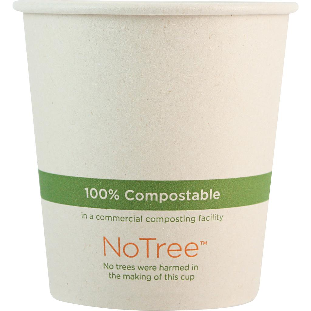 10 oz NoTree Paper Hot or Cold Cup, Compostable, 1000/cs