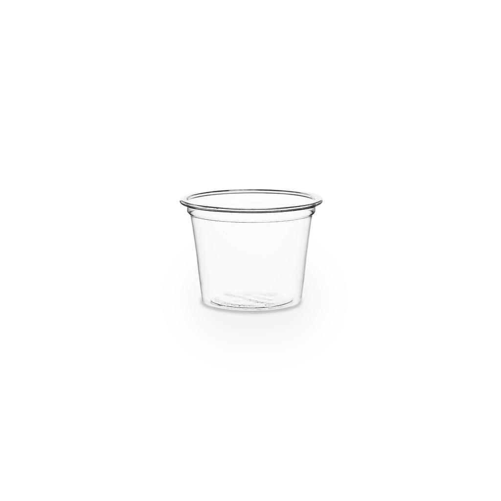 1 oz PLA cold portion cup, Material: PLA, Color: Clear, Compostable, 5000/cs