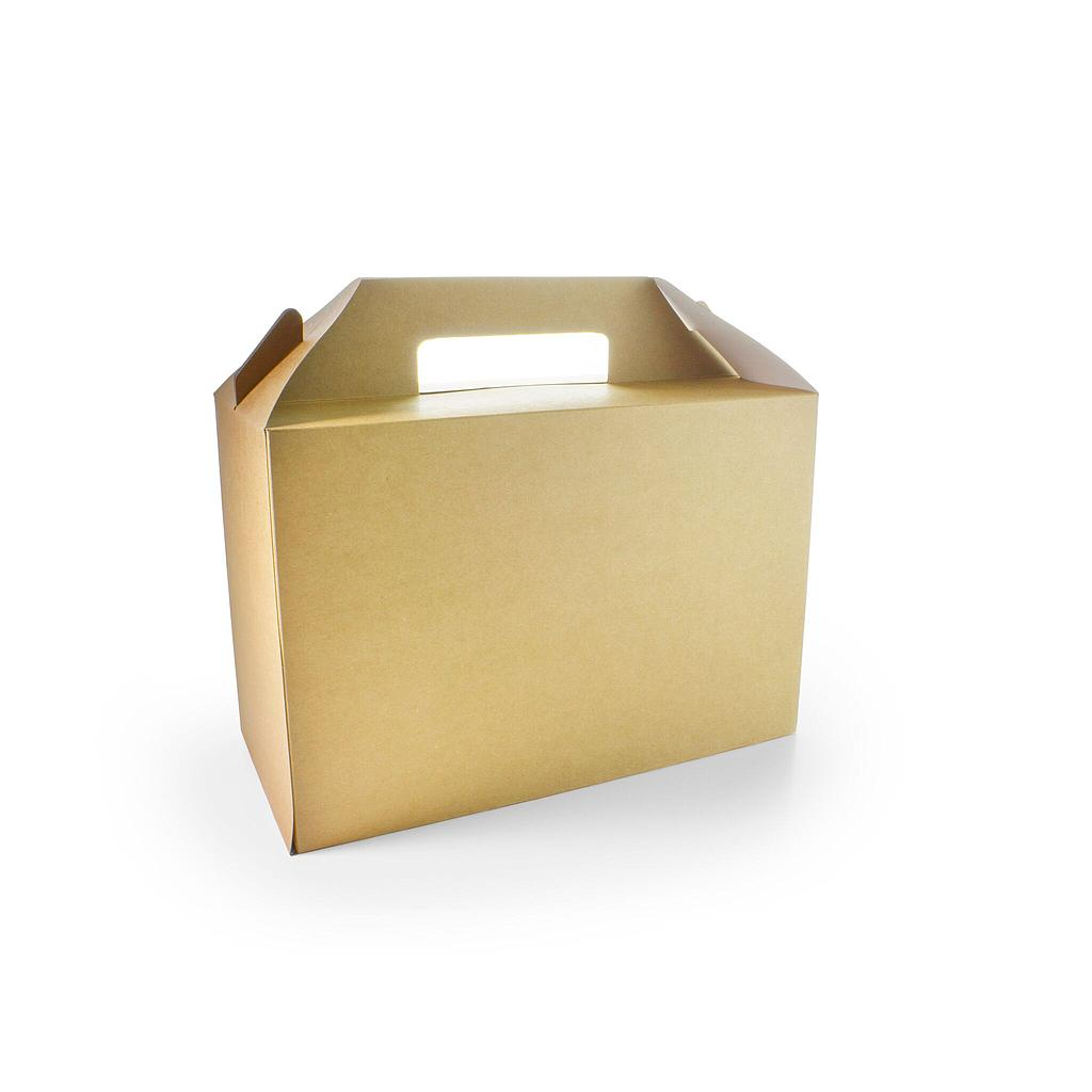 "*SPECIAL ORDER ITEM* Large Standard Carry Pack, Size: 10.4""x7""x4.9"", Material: Sturdy Kraft Board, Color: Natural, Compostable, 125/cs *SEE DETAILS BELOW*"