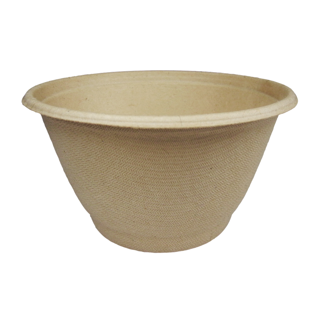 *SPECIAL ORDER ITEM* 6 oz Fiber Round Bowl, Material: Unbleached plant fiber, Color: Natural, Certified Compostable, 1000/cs *SEE DETAILS BELOW*