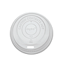 Hot Cup Dome Lid for 8 oz cups, Material: PLA, Color: White, Compostable, 1000/cs