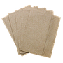 "1/8 Fold ""Off-Fold"" paper napkin, Size: 12""x13"", 1 ply, Color: Kraft, Made from 100% recycled fiber, Compostable, 6000/cs"